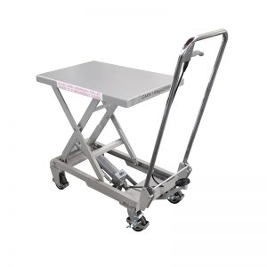 BSA10 Aluminum/manual scissor stainless steel lift table
